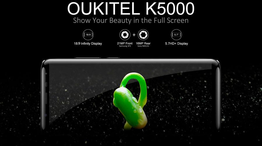 Oukitel K5000 Blue с батареей на 5000 мАч доступен для заказа