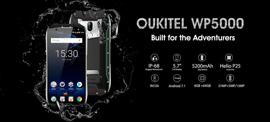 Oukitel WP5000 Black новый ударопрочный смартфон с защитой IP68