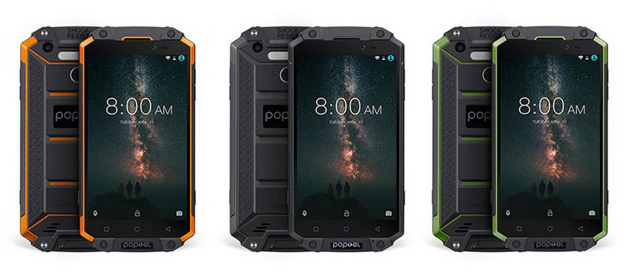 Poptel P9000 Max - защищённый смартфон с батареей на 9000 мАч