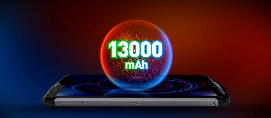 Big battery phone Ulefone Power 5 - 13000mAh battery 5V/5A