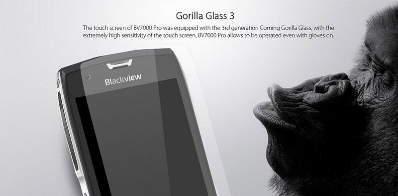 Blackview BV7000 Pro Stardust Grey смартфон имеет мощное противоударное стекло