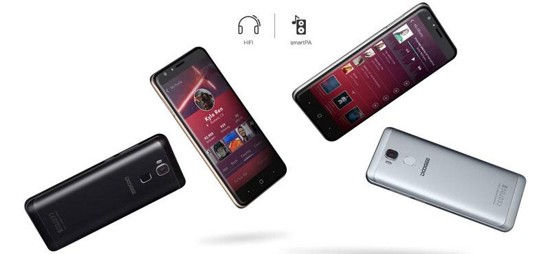 Doogee Y6C Moonlight Blue MTK6737 4 ядра Android 6.0 мобильный телефон 5.5 дюймов сотовых телефонов 2 г Оперативная память 16 г Встроенная память