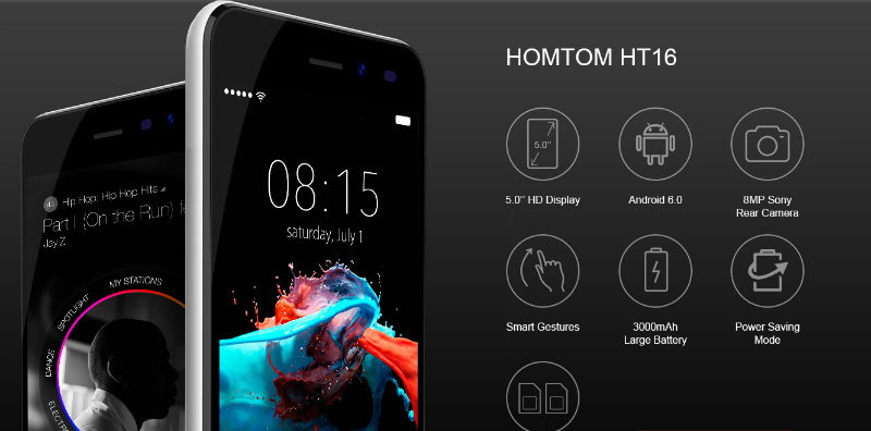 Homtom HT16 Pro модель представлена в 3-х цветах