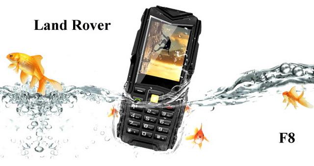 Land rover F8 кнопочный защищенный смартфон с мощным аккумулятором 8800 мач