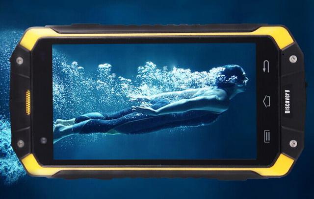 Discovery V9 Yellow защищенный смартфон в воде