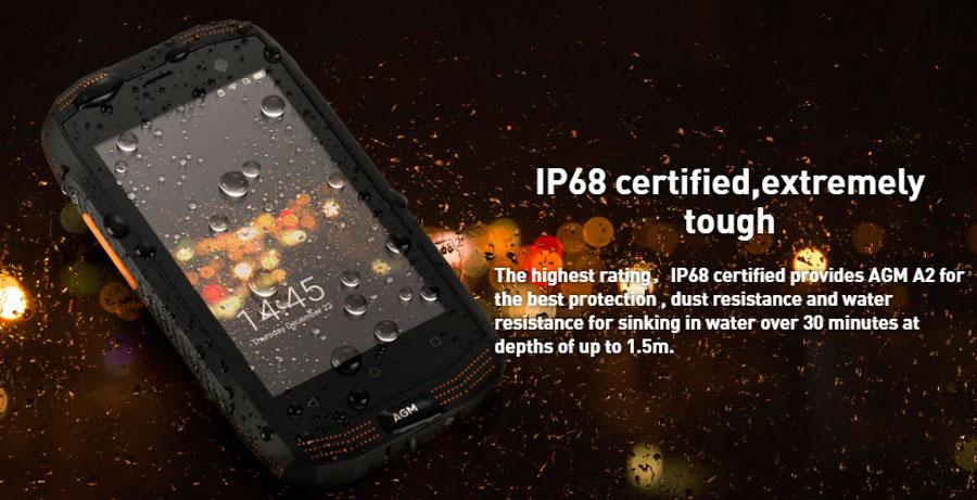 AGM A2 Black - IP68 + 2 | 16 Gb + Экран 4 + 3G, 4G