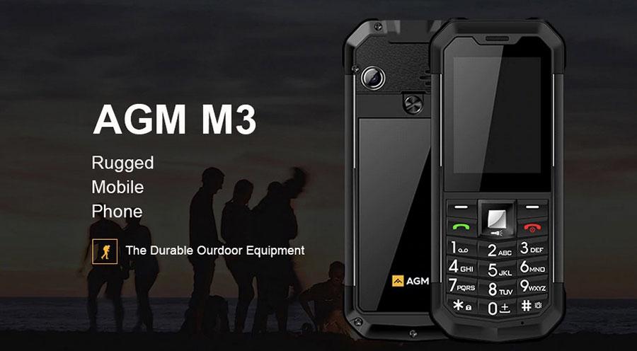новый бюджетный кнопочный аппарат - AGM M3