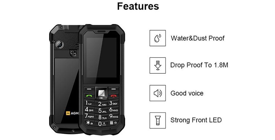 АГМ М3 телефон не боится купаний в воде, грязи и ударов