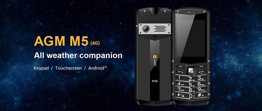 AGM M5 (Android, 4G) Black кнопочный смартфон на Андройде, с возможностью установит Viber