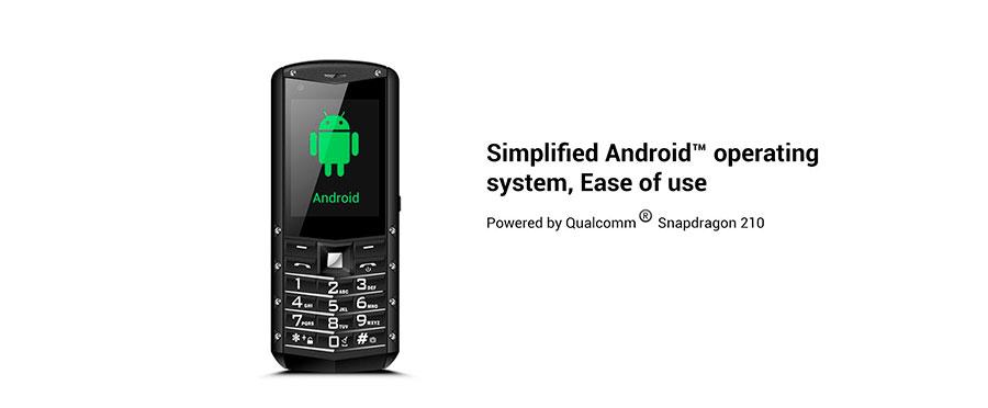 AGM M5 (Android, 4G) Black полноценный Андройд в бюджетном простом кнопочном телефоне