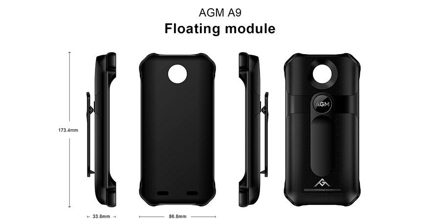 Официальный AGM A9 плавающий модуль IP68 Водонепроницаемый Новый Плавательный спорт на открытом воздухе прочный мобильный телефон