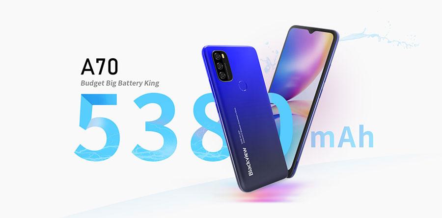 смартфон Blackview A70 3/32Gb Blue новый бюджетный смартфон с большим аккумулятором в 2021 году