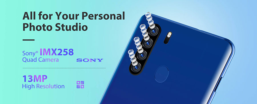 Blackview A80 Plus (4/64Gb) Black имеет 6,49 дюймов IPS-дисплей с разрешением 720 x 1560 px