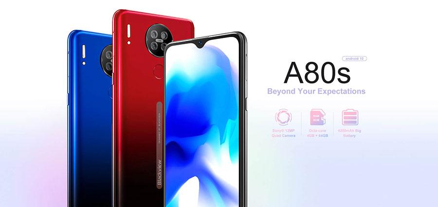 Blackview A80s 4/64Gb Blue обновленная и дороботаная модель полюбившегося всем бюджетного смартфона