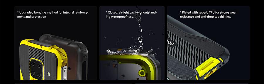 Blackview BV5100 4/128Gb Green на левой стороне находится программируемая клавиша и датчик отпечатка пальца