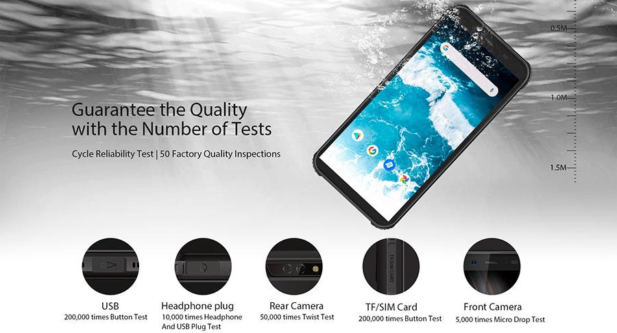 Blackview BV5500 Plus 3/32GB Yellow несмотря на крупный корпус, телефон отличается элегантностью и прекрасно лежит в руке.