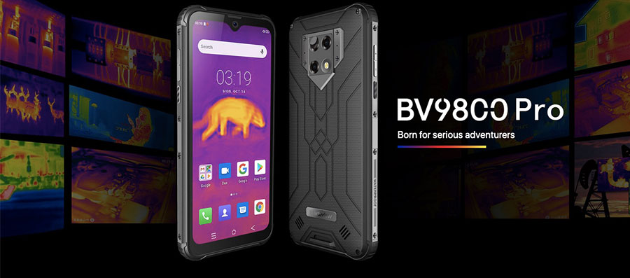 Blackview BV9800 Pro Black Global First, 6 ГБ ОЗУ 128 Гб ПЗУ, Helio P70, Android 9,0, IP68, водонепроницаемый