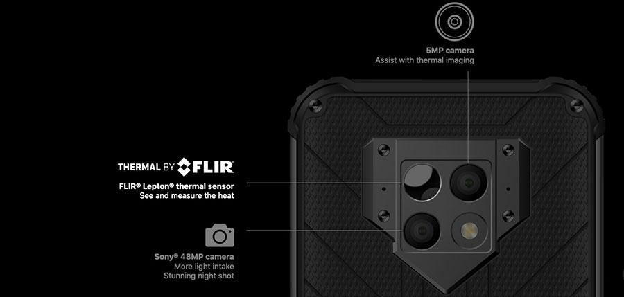 blackview bv9800 pro black В состав основной камеры смартфона входит фотосенсор с разрешением в 48 МП. А вот второй фотосенсор в ней очень интересен, так как он произведен компанией FLIR, снимает в инфракрасном спектре и обладает разрешением в 5 МП.