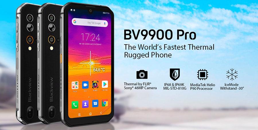 Blackview bv9900 pro еще одна новинка защищенного смартфона с тепловизором в 2020 году