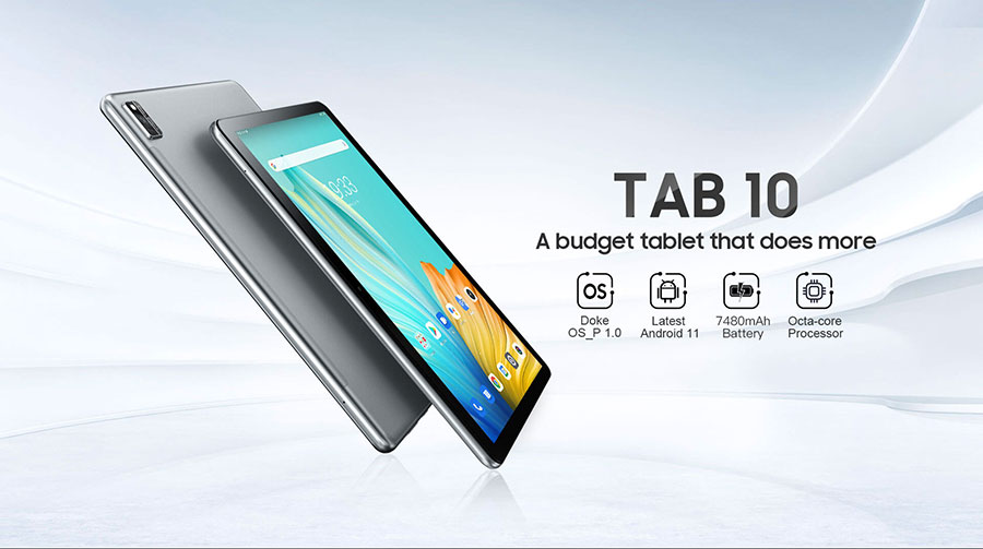 Blackview Tab 10 4/64Gb LTE Silver особенностью модели станет оболочка на базе Android 11