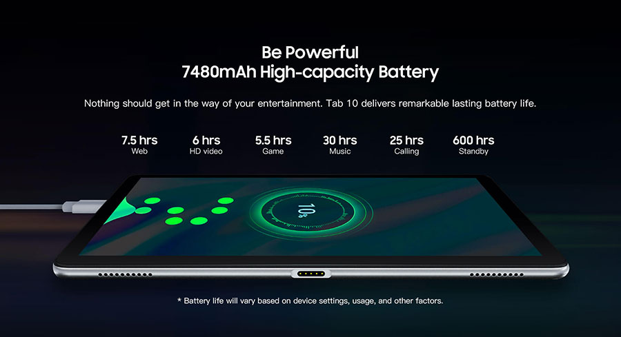 Blackview Tab 10 4/64Gb LTE Silver с функцией быстрой зарядки