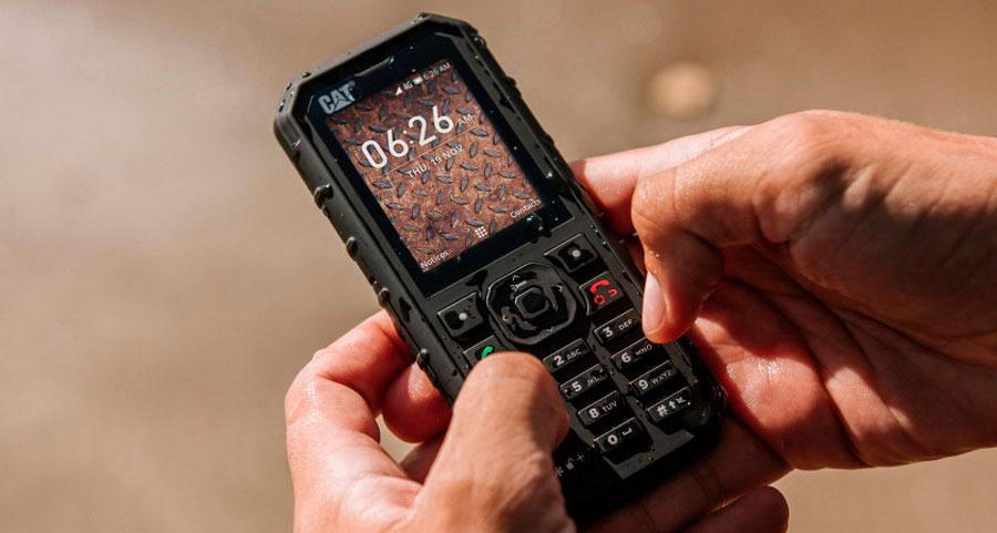 Внедорожный телефон Cat B35 поддерживает сети LTE