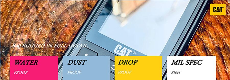 Caterpillar Cat B40 первый полностью антибактериальный защищенный мобильный телефон