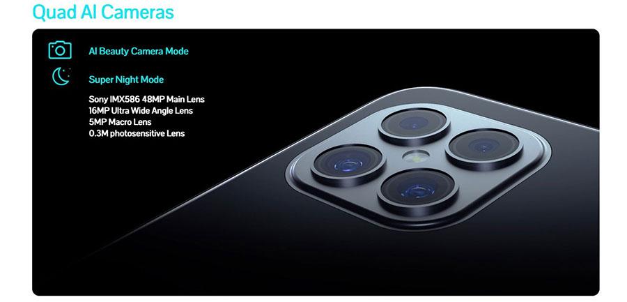 Cubot C30 8/128Gb Black имеет модули Wi-Fi, Bluetooth, NFC, OTG и GPS.