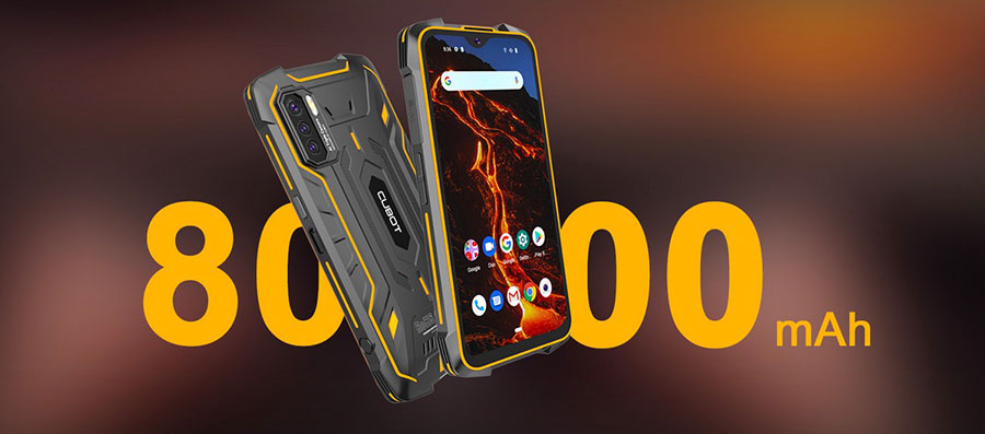 Cubot KingKong 5 Pro 4/64Gb Orange получил аккумулятор ёмкостью 8000 мАч, который способен обеспечить как минимум 3 дня полноценного использования смартфона