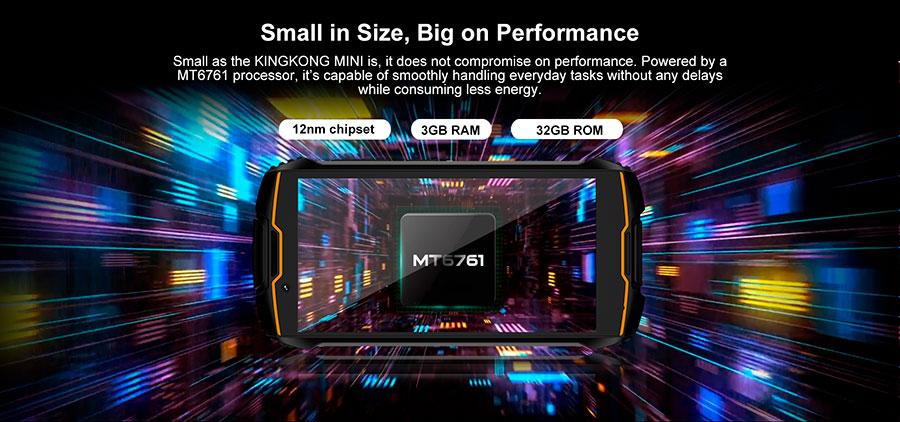 Cubot KingKong mini 3/32GB Orange компактный и небольшой защищенный смартфон в 2020 году