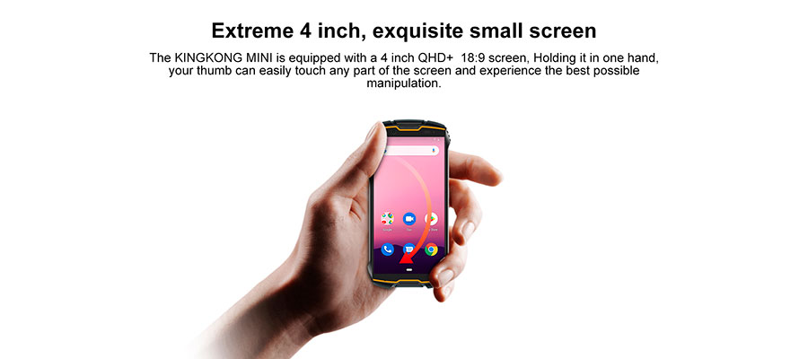 Cubot KingKong mini 3/32GB Orange новый защищенный телефон с экраном 4 дюйма