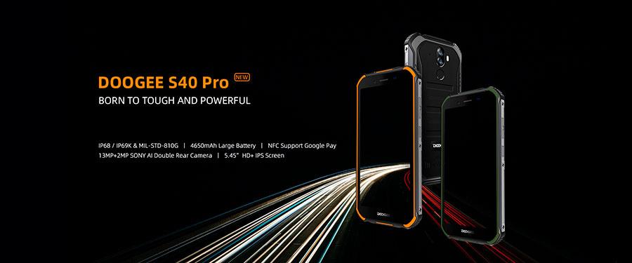 Doogee S40 Pro 4/64GB Black доступные 4G смартфоны N30 и S40 Pro