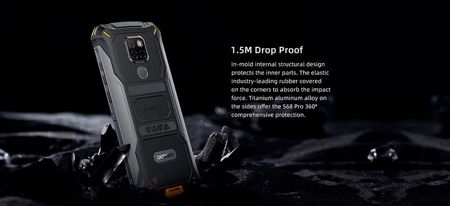 Doogee S68 Pro Yellow обладает футуристическим концептуальным дизайном, износостойким корпусом и и серьезной начинкой.