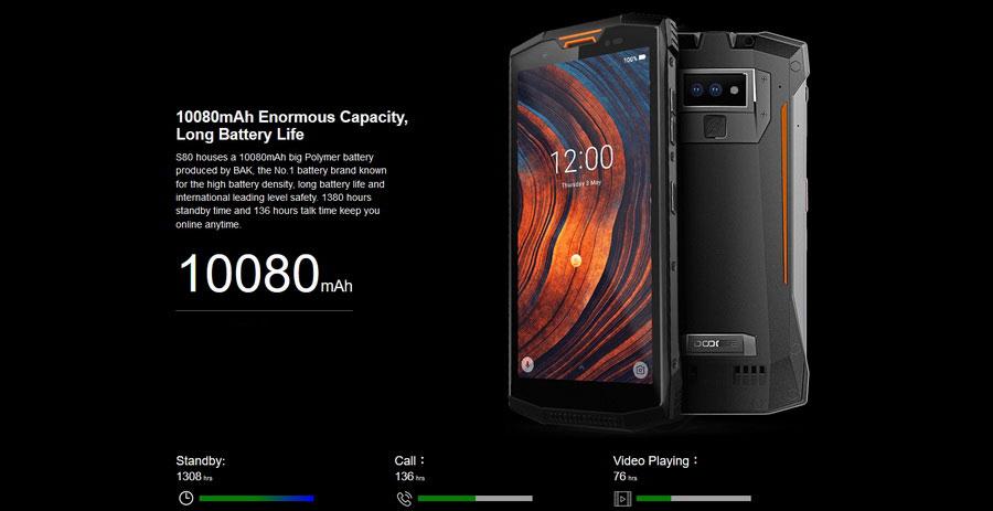 Doogee S80 Lite 4/64GB Fire Orange ударопрочный защищенный смартфон