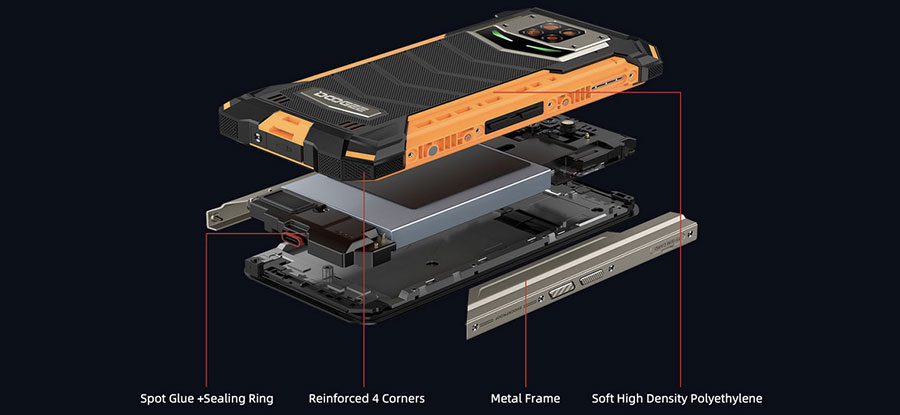 Doogee S88 Pro (6/128GB, АКБ 10000мАч) Black смартфон получил защиту корпуса по стандарту IP68 и IP69K