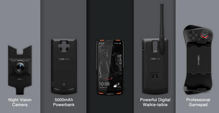 Doogee S90 - защищенный смартфон со сменными модулями: от батарейки до проектора