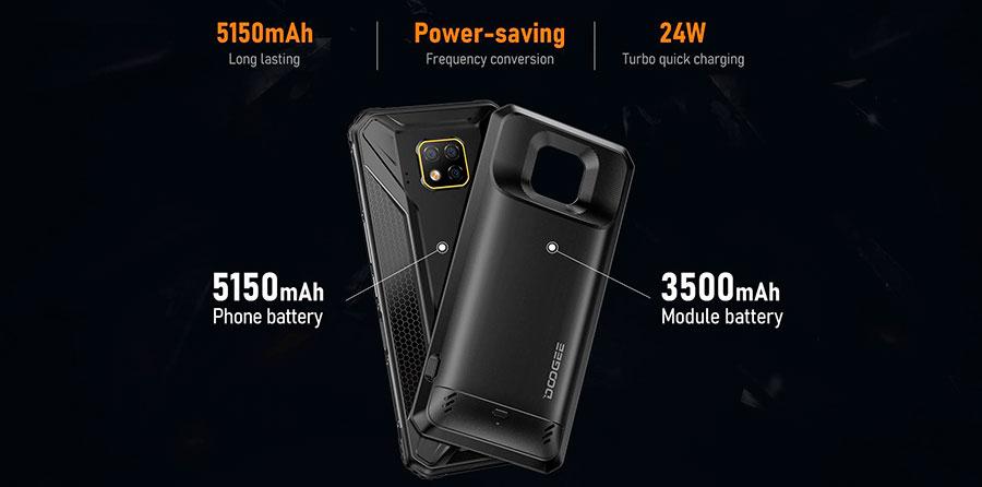 Дуджи С95 Про (Модуль Аккумулятора + Модуль Hi-Fi) достойная новинка противоударного смартфона в 2020 году с модулями в комплекте