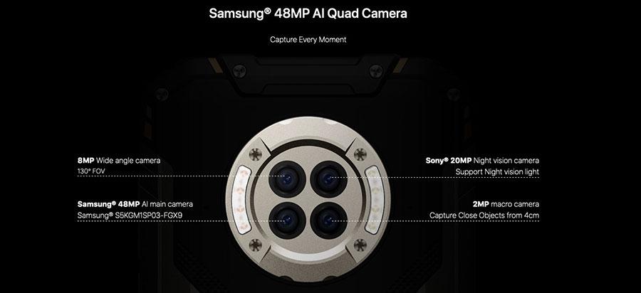 Doogee S96 Pro его батарея на 6350мАч подарит около трех суток работы без подзарядки