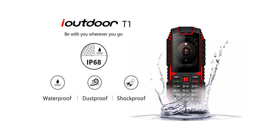ioutdoor t1 red надежный и простой защищенный кнопочный телефон ip68