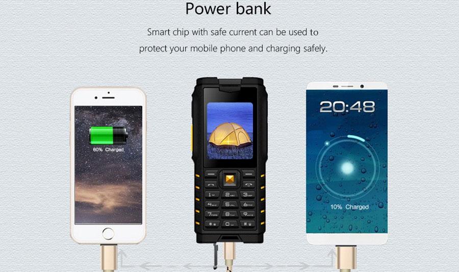 Защищенный телефонIOutdoor T2 Yellow Рация Walkie-Talkie (Xgody) IP68 PTT