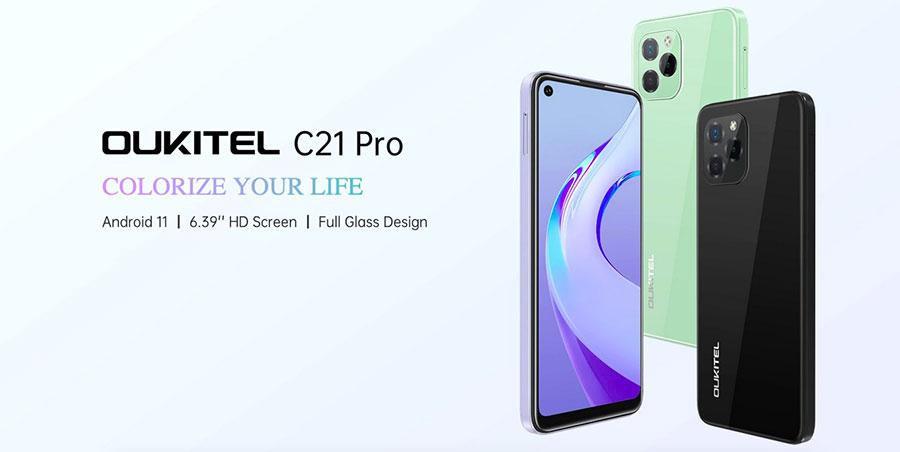 Oukitel C21 Pro 4/64Gb Green новая модель в новом дизайне в 2021 году