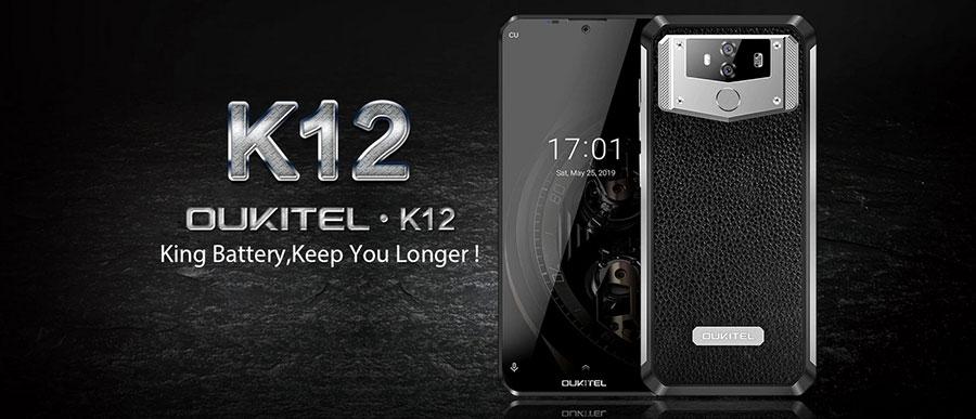 Oukitel K12 6/64GB Black надежный смартфон с большим аккумулятором, заряда хватает на неделю