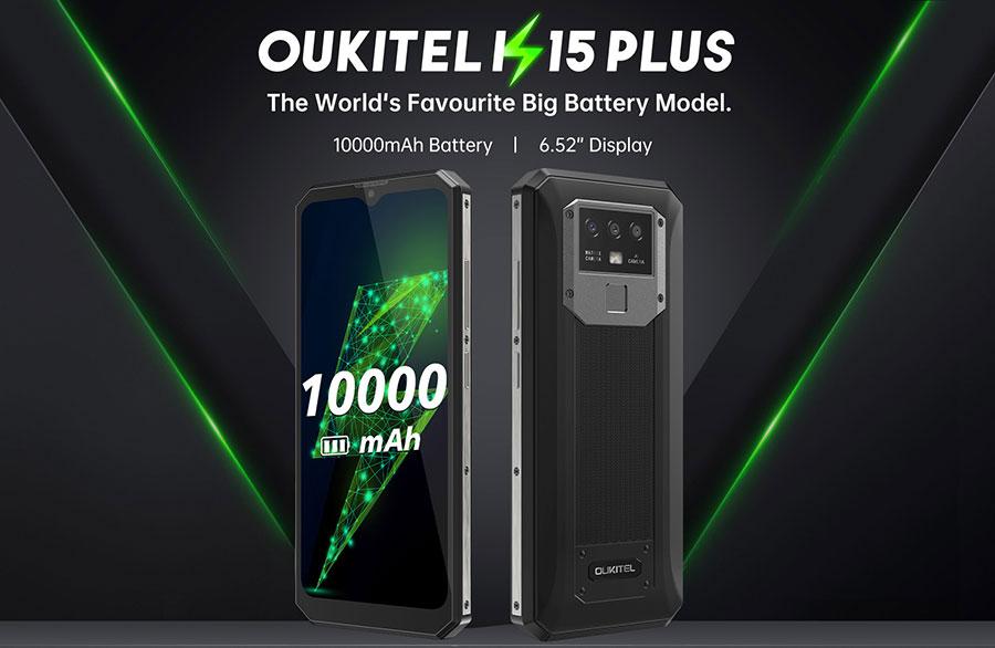 Oukitel K15 Plus 3/32Gb Black смартфон с о-очень ёмкой батарейкой и NFC-модулем