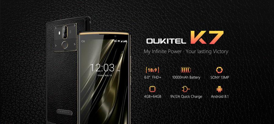 Oukitel K7 Pro 4/64Gb Black аккумулятор на 10000 мАч