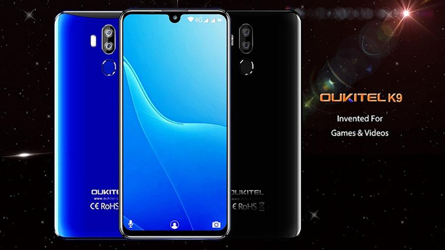 Oukitel K9 4/64Gb Black Oukitel K9 является, пожалуй, рекордно дешевым смартфоном с диагональю более 7 дюймов