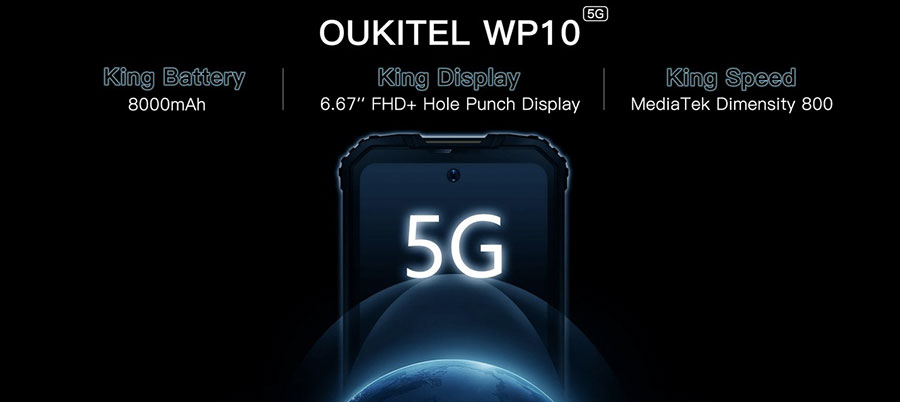 oukite wp10 5g первый защищенный смартфон с 5g от Oukitel