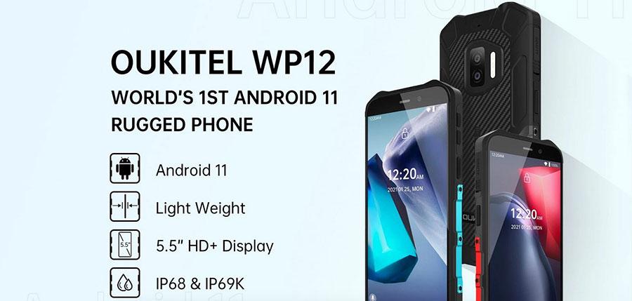 Oukitel WP12 4/32Gb Bllue новый защищенный телефон с Android 11