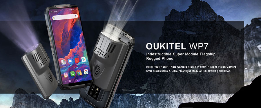 Oukitel WP7 8/128GB Black с инфракрасной камерой и УФ-модулем для стерилизации