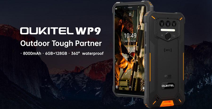 Oukitel WP9 6/128GB Black новинка 2021 года игровой защищенный смартфонс большим аккумулятором