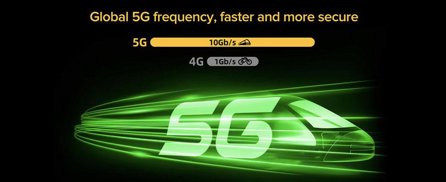 Ulefone Armor 10 защищенный смартфон 5G скорость до 10 раз выше, чем в сети 4G